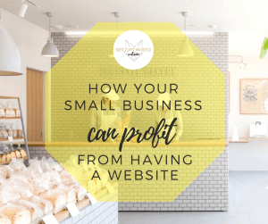 small business can profit from having a website