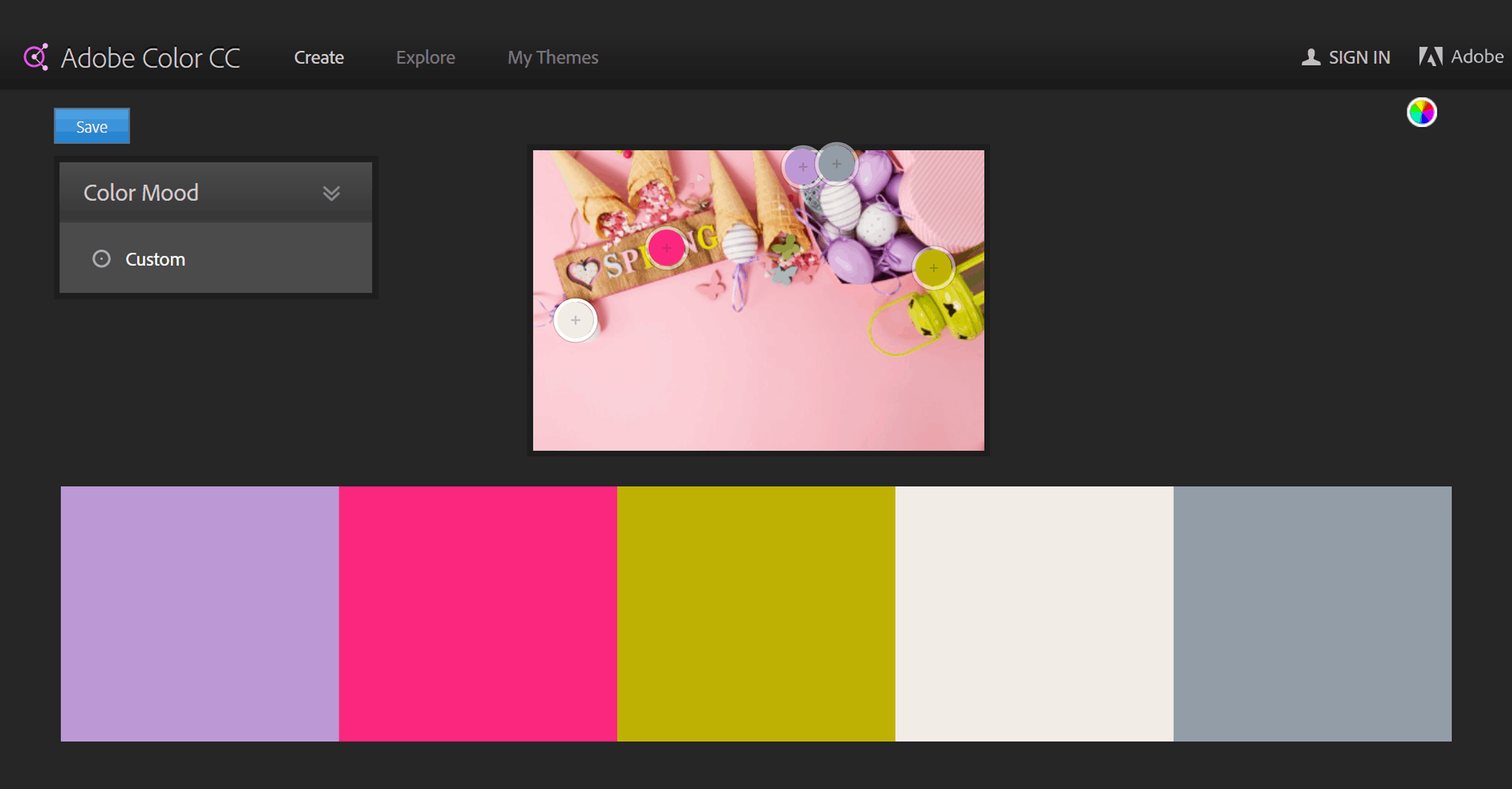 colour palette for blog seo optimised colours