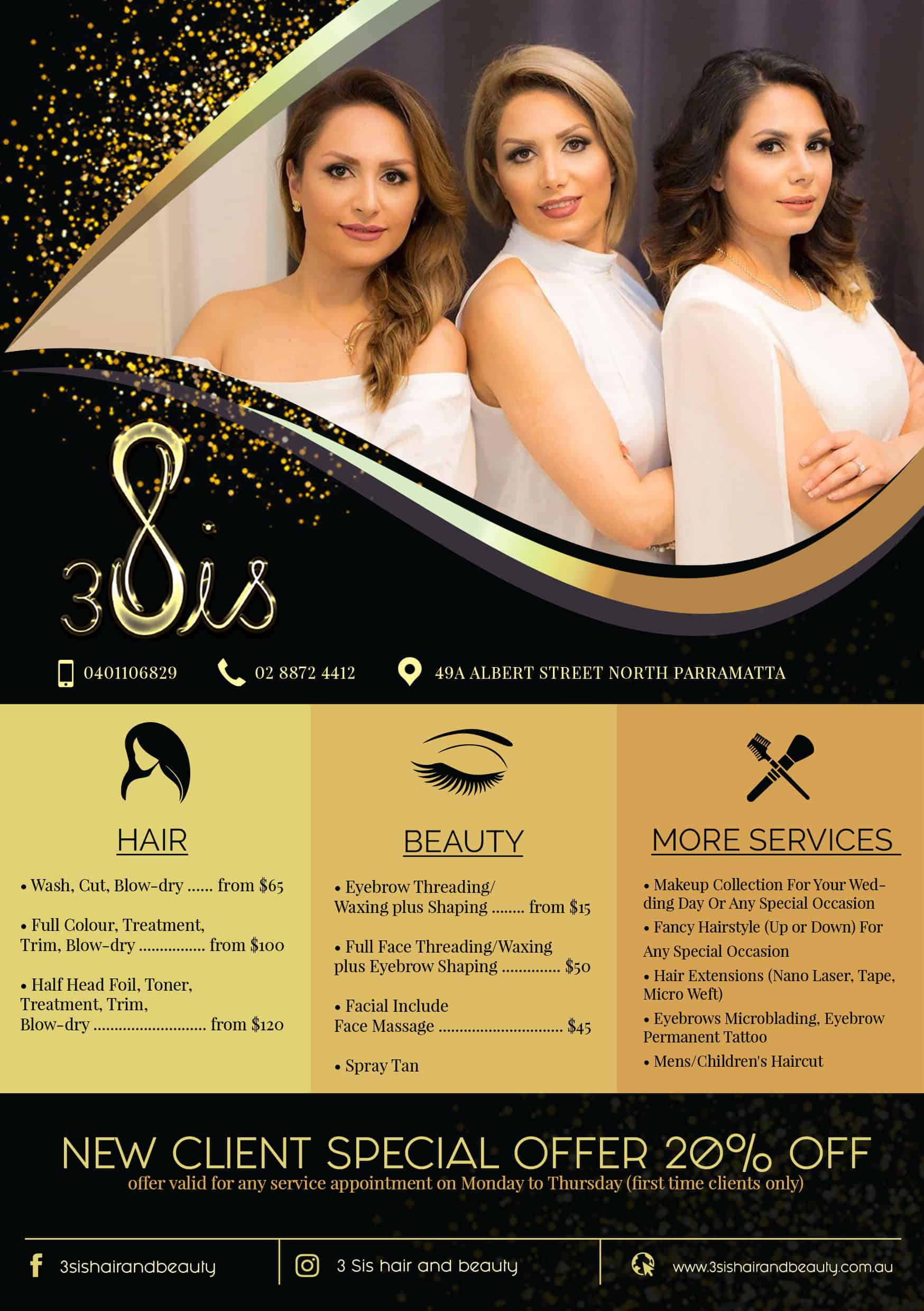 Hair and beauty flyer design