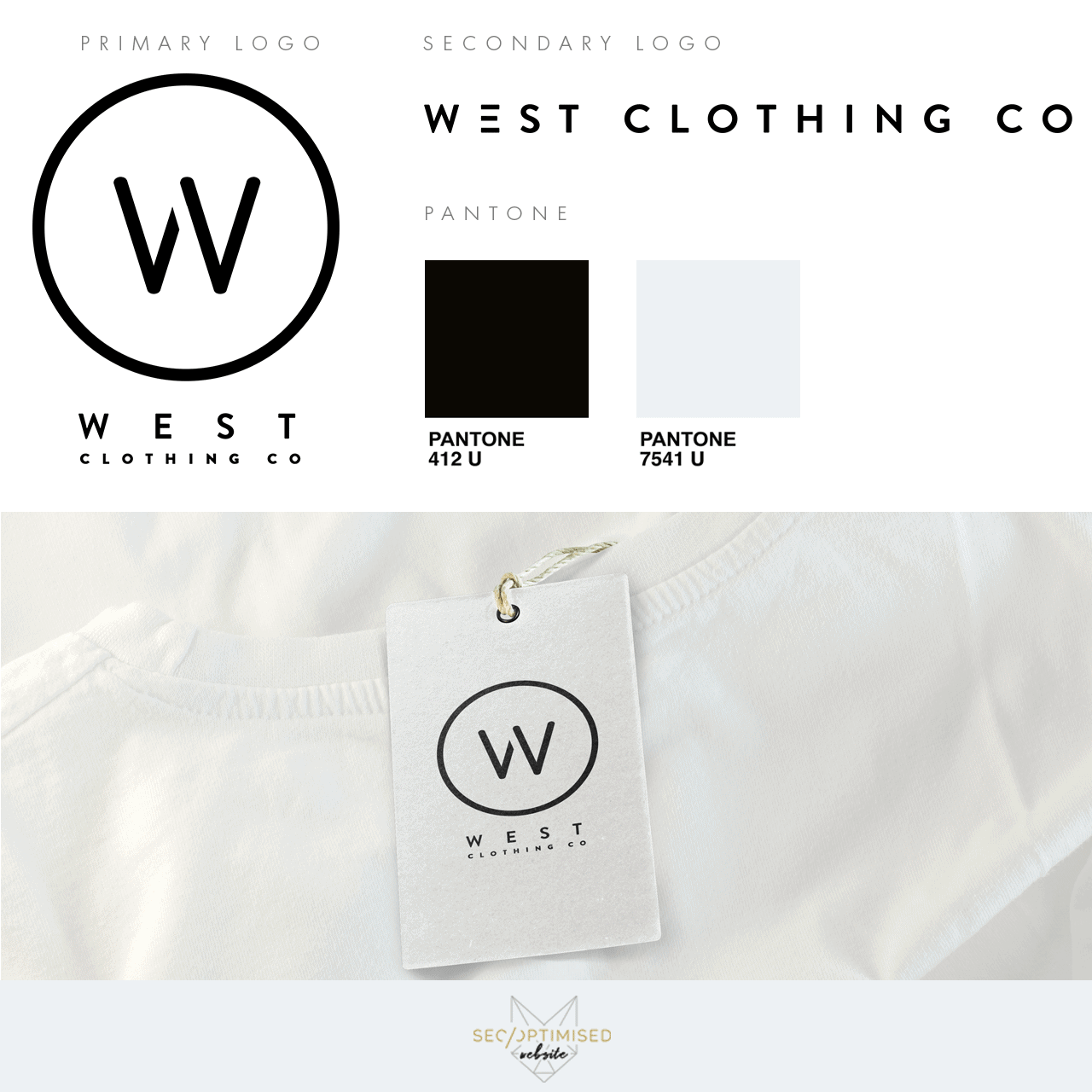West Clothing Logo Mockup Fb Seo Optimised Website