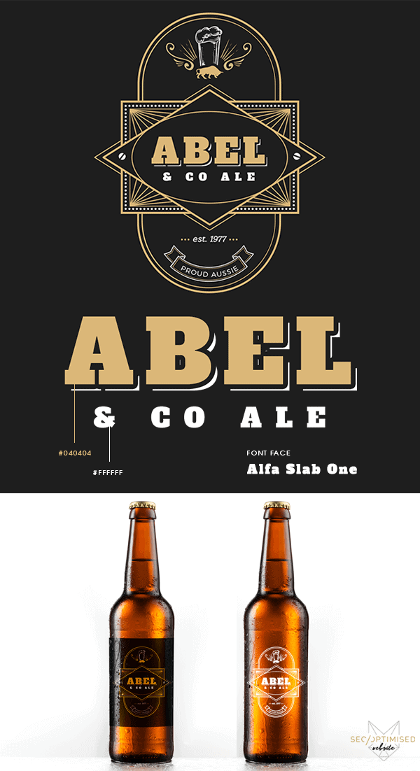 Beer Bottle Label Design