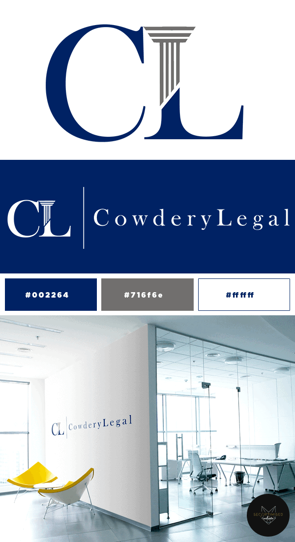 Legal Solicitor Logo and Business Card Design