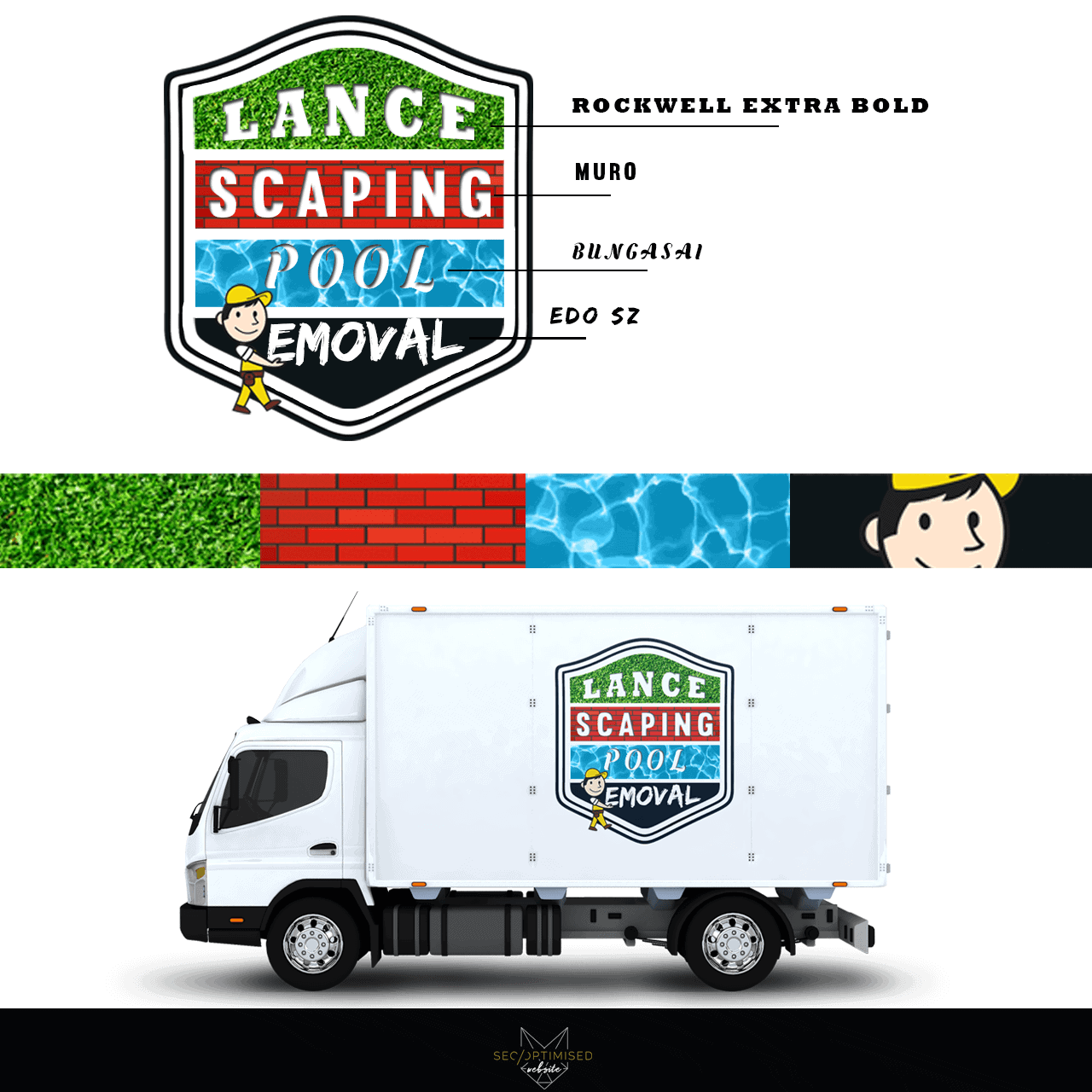 Landscaper and Pool Removal Business Logo