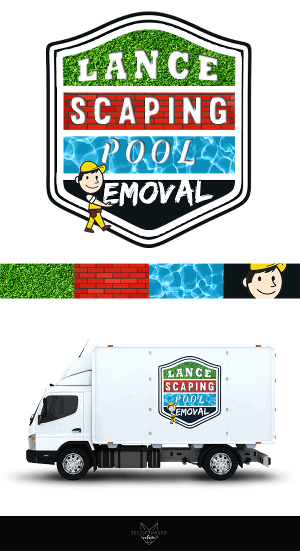 Landscaper and Pool Removal Business Logo Design