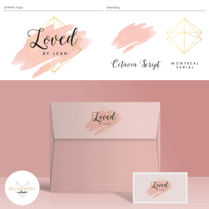 Pink Gold Watercolour Logo