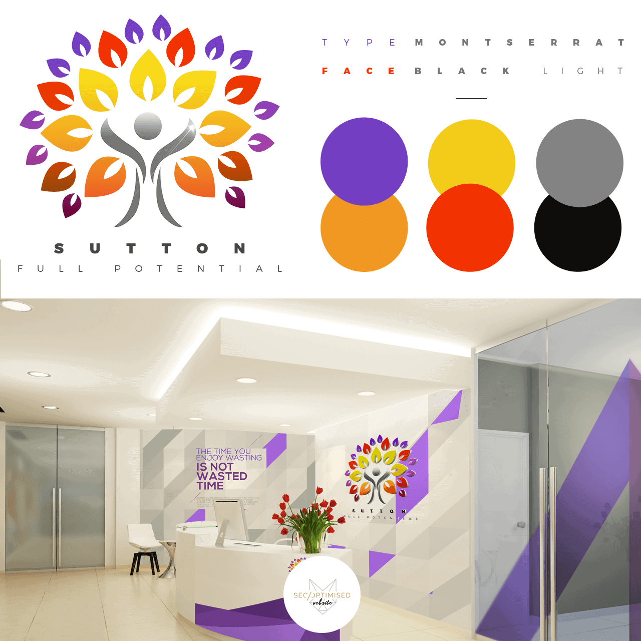 Employment Agency Logo wall mockup