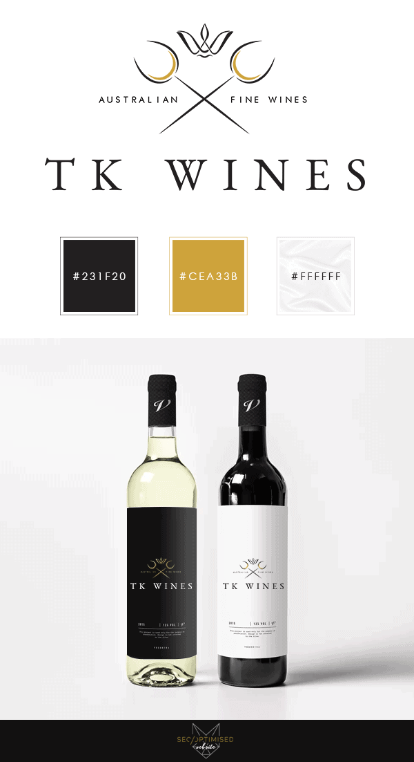 Wine Wholesaler Logo Design - SEO Optimised Website Newcastle NSW