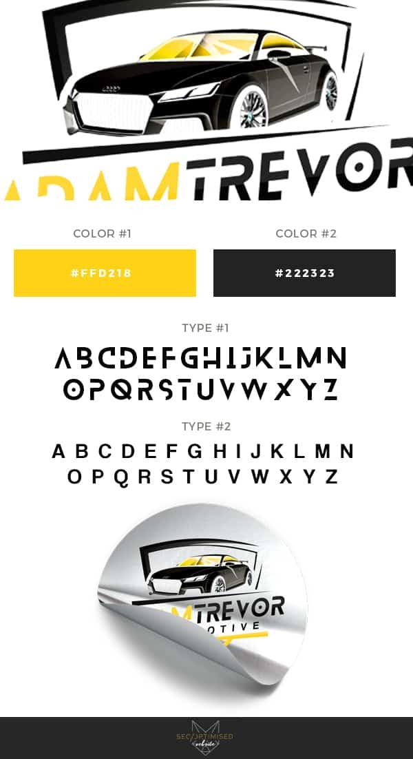 Automotive Detailer Logo - SEO Optimised Website