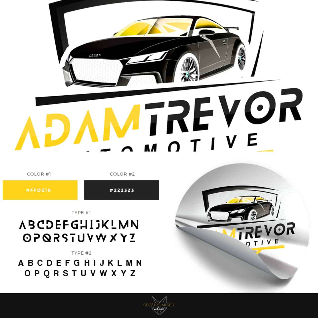 Automotive Detailer Logo - SEO Optimised Website