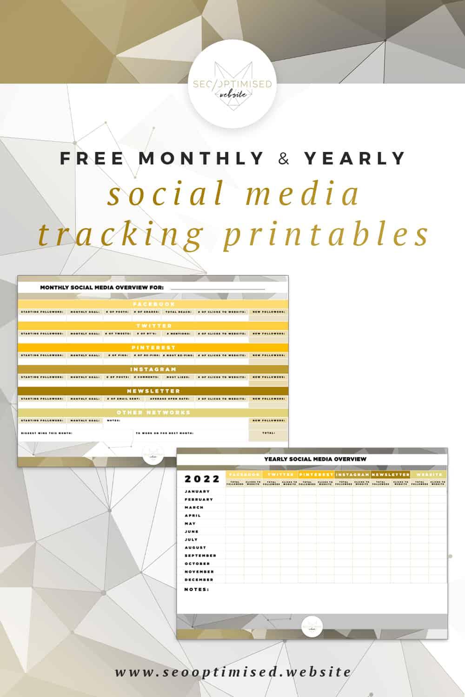 Free Printable Social Media Planners - SEO Optimised Website